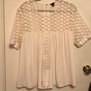 Ivory detailed Ann Taylor top